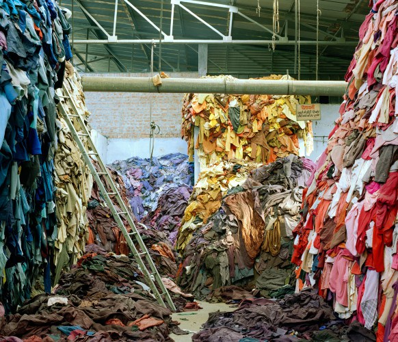Piles of Mutilated Hosiery, Haryana, India