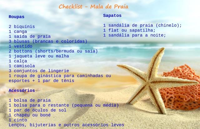 Checklist praia