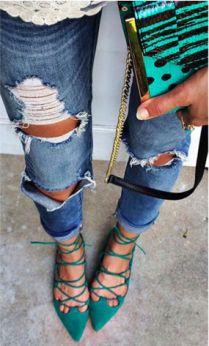 Flats lace up, como usar