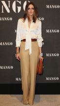 Olivia Palermo with her boyfriend Johannes Huebl attends the Mango fashion show. Pictured: Olivia Palermo Ref: SPL227438 161110 Picture by: G Tres / Splash News Splash News and Pictures Los Angeles: 310-821-2666 New York: 212-619-2666 London: 870-934-2666 photodesk@splashnews.com